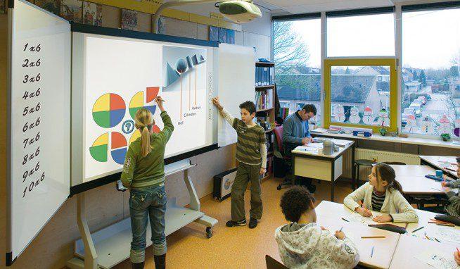 mobiliario escolar pizarra electronica