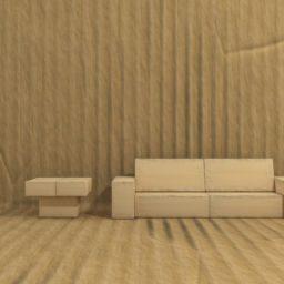mueble de oficina de cartón