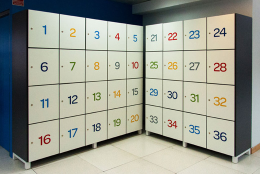 mobiliario oficina casilleros
