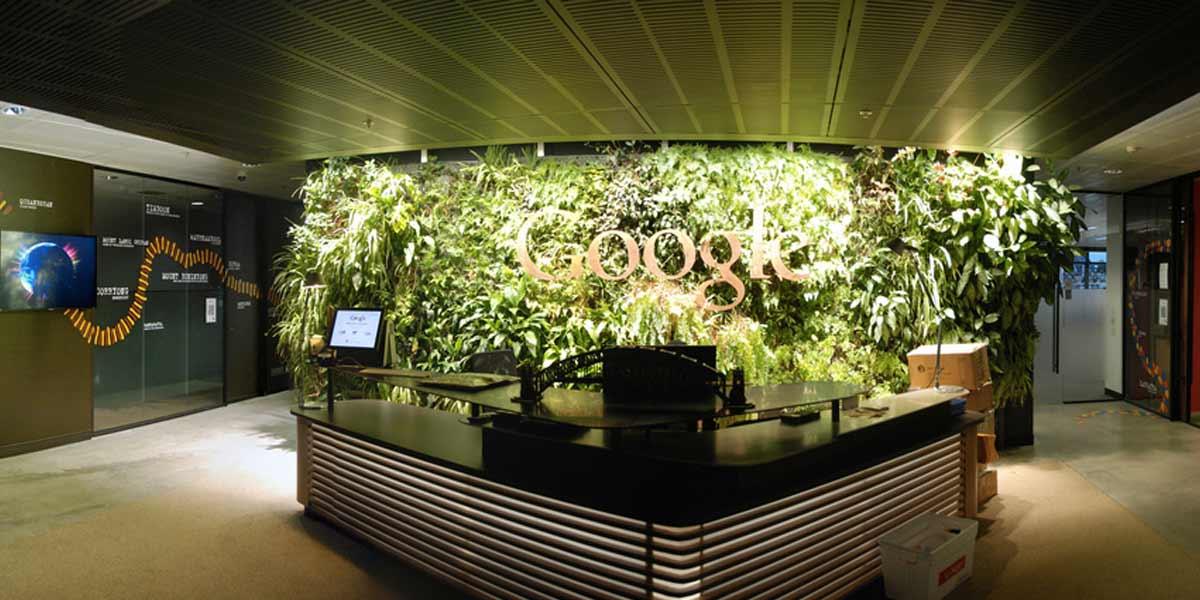 recepción oficinas google