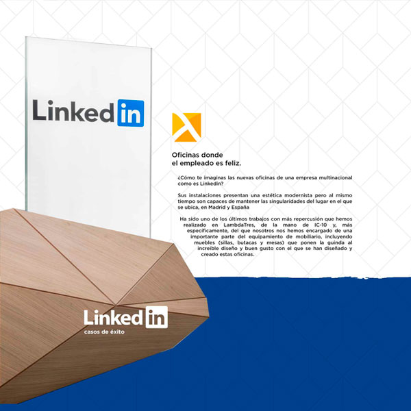 Infografía: Proyecto de Mobiliario de Oficina LINKEDIN