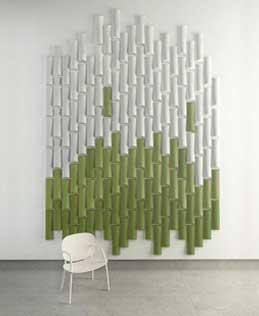 Panel acústico fonoabsorbente Bamboo